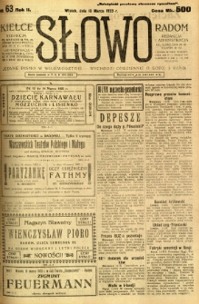Słowo, 1923, R. 2, nr 63