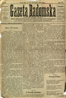 Gazeta Radomska, 1898, R. 15, nr 90