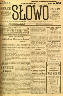 Słowo, 1923, R. 2, nr 72