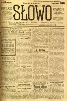 Słowo, 1923, R. 2, nr 73