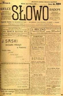Słowo, 1923, R. 2, nr 75