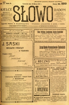 Słowo, 1923, R. 2, nr 77