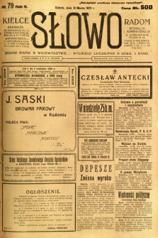 Słowo, 1923, R. 2, nr 79