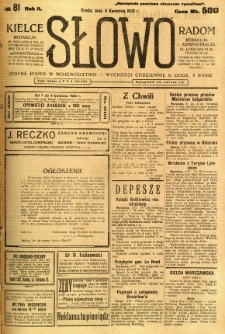 Słowo, 1923, R. 2, nr 81