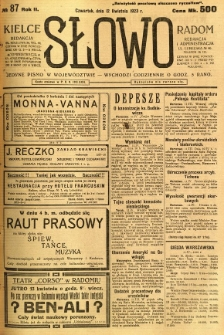 Słowo, 1923, R. 2, nr 87