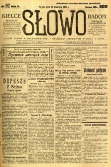 Słowo, 1923, R. 2, nr 92