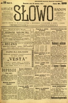 Słowo, 1923, R. 2, nr 99
