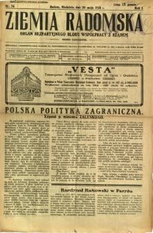 Ziemia Radomska, 1928, R. 1, nr 74