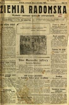 Ziemia Radomska, 1931, R. 4, nr 1