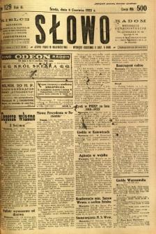 Słowo, 1923, R. 2, nr 129