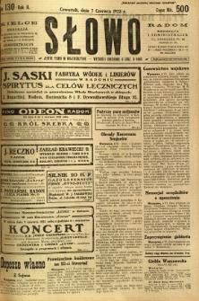 Słowo, 1923, R. 2, nr 130