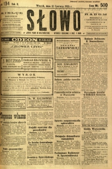 Słowo, 1923, R. 2, nr 134