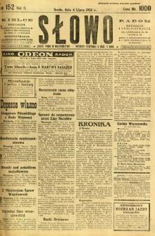 Słowo, 1923, R. 2, nr 152