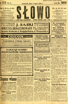 Słowo, 1923, R. 2, nr 153