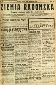 Ziemia Radomska, 1931, R. 4, nr 7