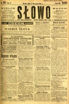 Słowo, 1923, R. 2, nr 181