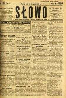 Słowo, 1923, R. 2, nr 183