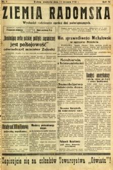 Ziemia Radomska, 1931, R. 4, nr 8