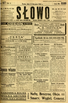 Słowo, 1923, R. 2, nr 187