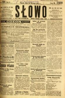 Słowo, 1923, R. 2, nr 194