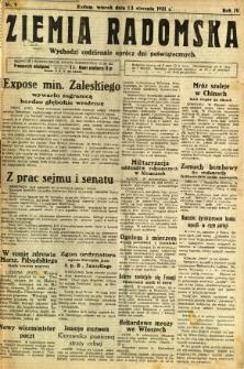 Ziemia Radomska, 1931, R. 4, nr 9