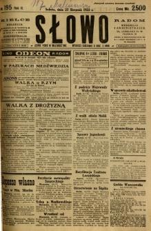 Słowo, 1923, R. 2, nr 195