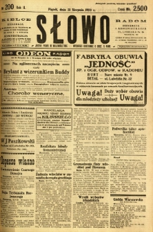 Słowo, 1923, R. 2, nr 200