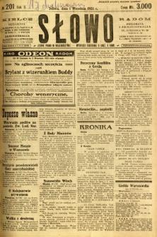 Słowo, 1923, R. 2, nr 201