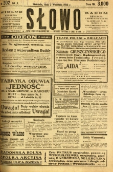 Słowo, 1923, R. 2, nr 202
