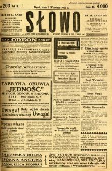 Słowo, 1923, R. 2, nr 203