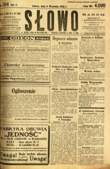 Słowo, 1923, R. 2, nr 204