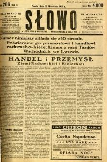 Słowo, 1923, R. 2, nr 206