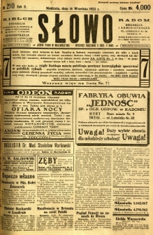 Słowo, 1923, R. 2, nr 210