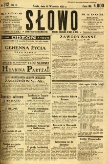 Słowo, 1923, R. 2, nr 212