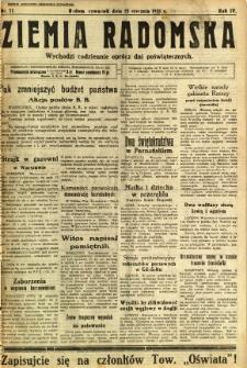 Ziemia Radomska, 1931, R. 4, nr 11