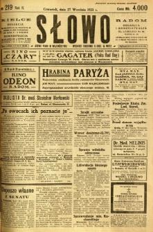 Słowo, 1923, R. 2, nr 219
