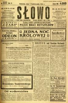 Słowo, 1923, R. 2, nr 222