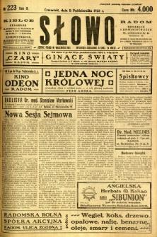 Słowo, 1923, R. 2, nr 223
