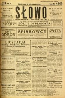Słowo, 1923, R. 2, nr 224