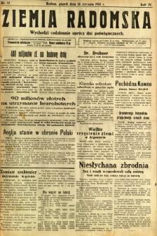 Ziemia Radomska, 1931, R. 4, nr 12