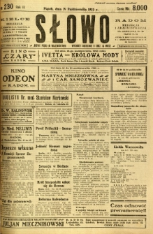 Słowo, 1923, R. 2, nr 230