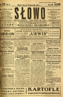 Słowo, 1923, R. 2, nr 236