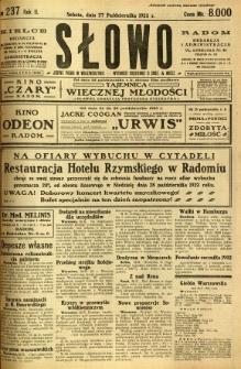 Słowo, 1923, R. 2, nr 237