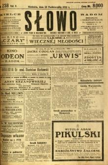 Słowo, 1923, R. 2, nr 238