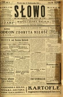 Słowo, 1923, R. 2, nr 239