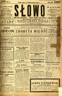 Słowo, 1923, R. 2, nr 240