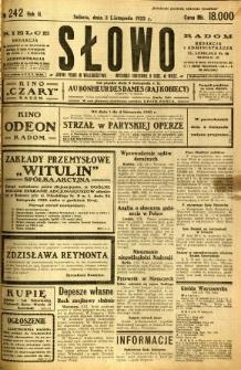 Słowo, 1923, R. 2, nr 242