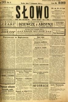 Słowo, 1923, R. 2, nr 245