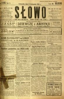 Słowo, 1923, R. 2, nr 246