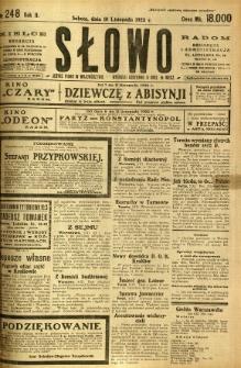 Słowo, 1923, R. 2, nr 248
